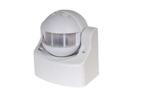motion sensor: infrared motion sensor isolated on white