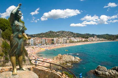 parapet: View of lloret de Mar,Costa Brava,Spain  Stock Photo