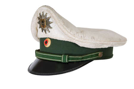 corporal: Police hat, against a white background of the German police officer