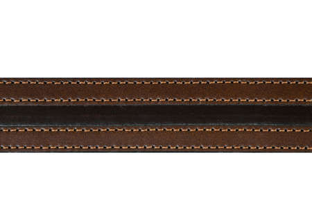 leather belt: brown leather belt fashion on white background