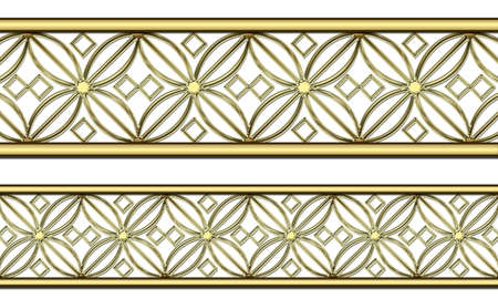 entwined: Gold pattern Stock Photo