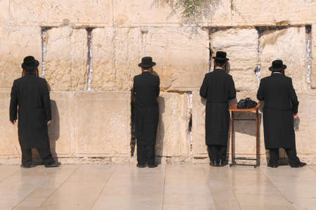 mishnah: JERUSALEM -July 27 : Jews prays at the Western Wall July 27 , 2012 in Jerusalem, Israel Editorial