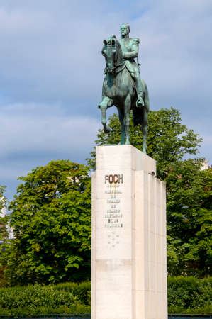 allied: A statue of Marshal Ferdinand Foch (1938) in Paris, France. Foch was a French soldier and the Allied Generalissime during the First World War.