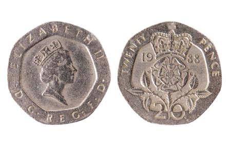 Vorder Und Rückseite Einer Englischen Währung Von Einem Penny