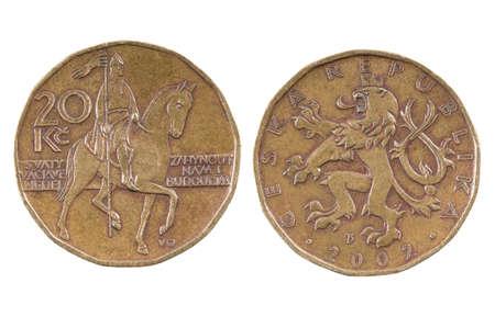 sain: Coin of the Czech Republic.20 CZK.