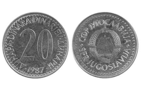 Coin 20 yugoslav dinar photo