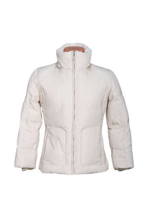 noun: Woman winter jacket isolated in white background