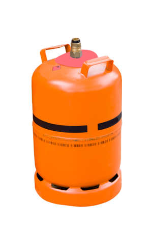 gas cylinder: Gas cylinder on isolated white background