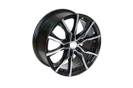 vulcanization: Car wheel Rim isolated on white.