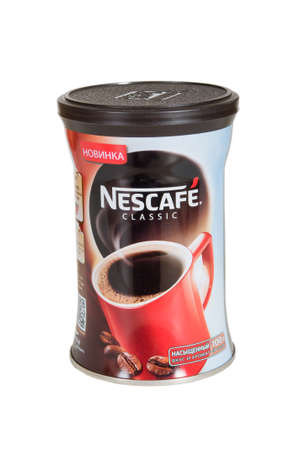 nestle: Moscow, Russia November 08,2015: bystrorastvorimy Nescafe coffee. Nescafe - a brand of the instant coffee made by Nestle