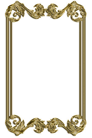 Golden vintage borde decorative frame