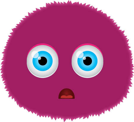 A funny monster face illustration Vector