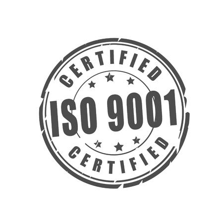 Timbre d'illustration vectorielle certifié ISO 9001