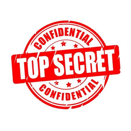 standardization: Top secret, confidential vector illustration stamp Illustration