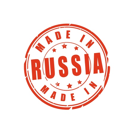 Made in Russia vector illustration stamp