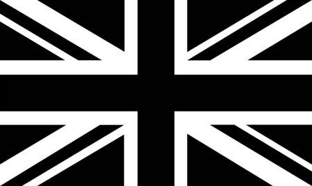 黒と白の英国旗 - Brexit。イギリスは欧州連合から終了します。選挙またはイギリスの国民投票。  イラスト・ベクター素材