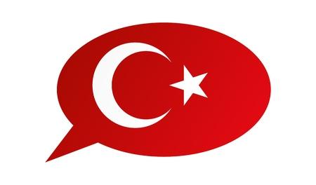 Conversation dialogue bubble of the Turkey