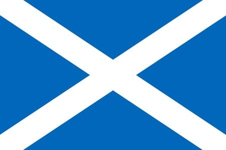 스코틀랜드의 국기 - 벡터 그래픽 일러스트