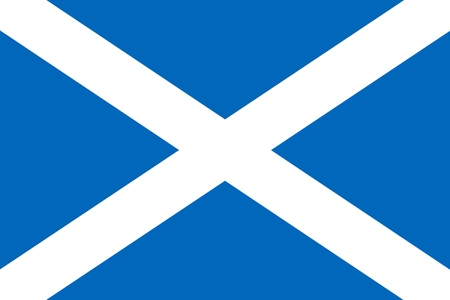 Flag of Scotland - vector graphics