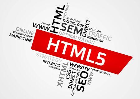 html5: HTML5 word cloud, tag cloud.