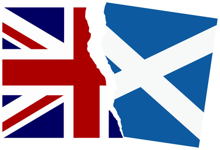 Election or referendum in Scotland. Scotexit. Illustration