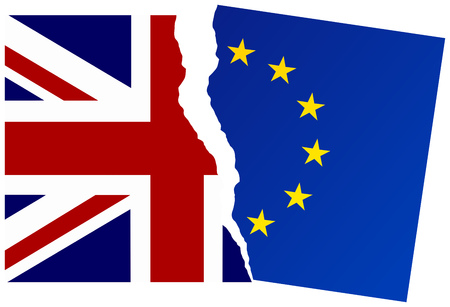 United Kingdom exit from the European Union. Election or referendum in Great Britain. Brexit. Illustration