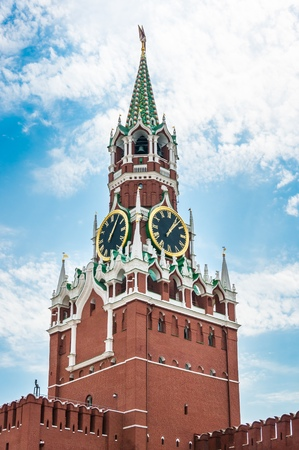 spassky: Spasskaya tower of Kremlin on Red Square in Moscow, Russia