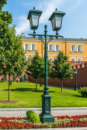 Alexander Garden and the western Kremlin wall in Moscow, Russia