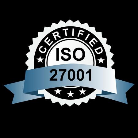 Emblema certificato ISO, simbolo della qualità del timbro ISO