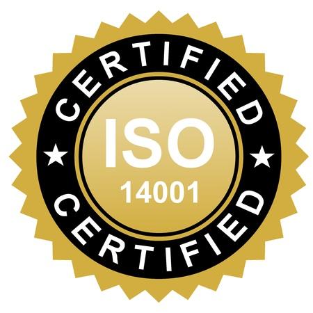 standardization: ISO certified emblem, ISO stamp quality symbol
