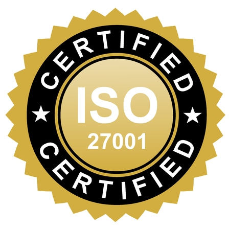 ISO certified emblem, ISO stamp quality symbol