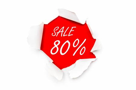 引き裂かれたホワイト ペーパーでは、書かれたテキスト - 販売 80% オフ