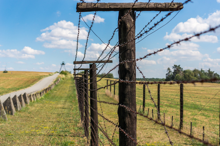 Remains of iron curtain near border of Czech republic, Europe