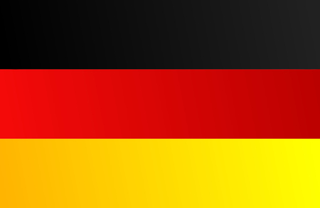 Flag of Germany with transition color - vector graphic