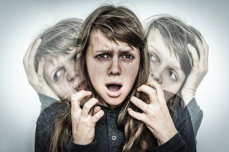 Woman with schizophrenia