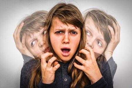 Frau mit Schizophrenie