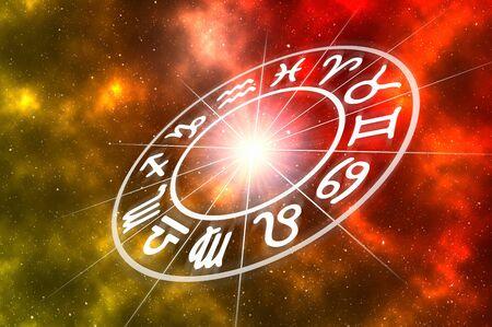 Astrology zodiac symbols Archivio Fotografico - 134343657