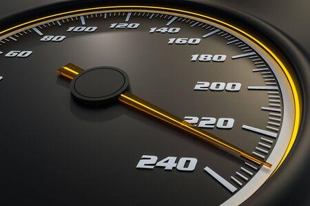 Speedometer Reklamní fotografie - 134344287