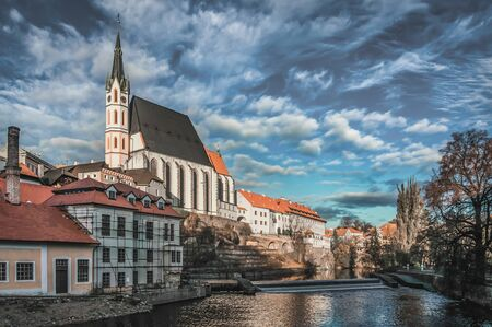 Beautiful view to the castle in Cesky Krumlov, Czech Republic