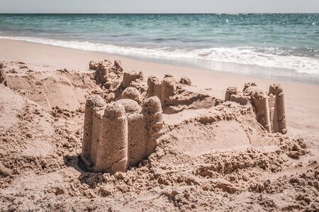 Beautiful sand castle on the sea shore Reklamní fotografie