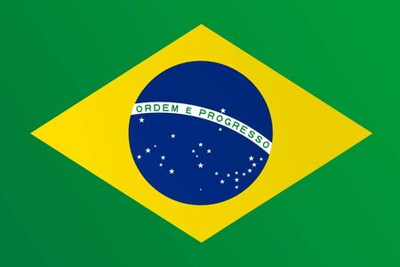 Flag of Brazil with transition color - vector graphic