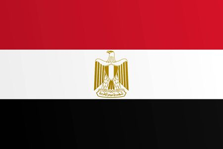 Flag of Egypt with transition color - vector graphic 일러스트