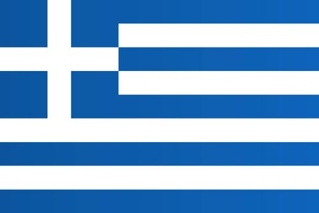 Flag of Greece with transition color - vector graphic