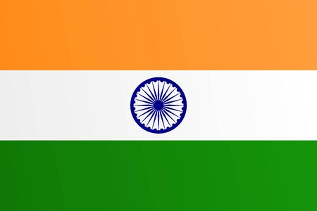 Flag of India with transition color - vector graphic