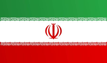 Flag of Iran with transition color - vector graphic