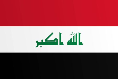 Flag of Iraq with transition color - vector graphic