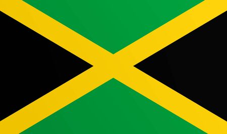 Flag of Jamaica with transition color - vector graphic