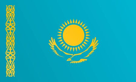Flag of Kazakhstan with transition color - vector graphic