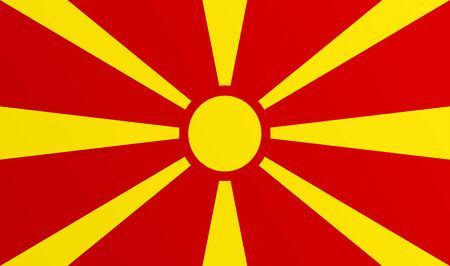 Flag of Macedonia with transition color - vector graphic Stock Illustratie