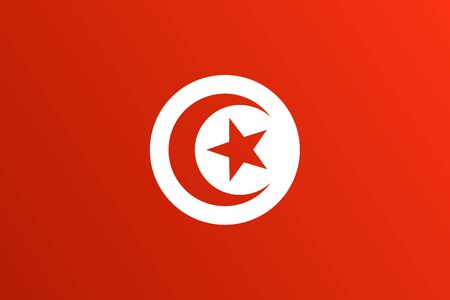 Flag of Tunisia with transition color - vector graphic